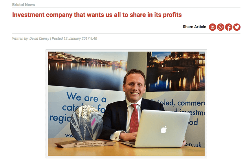 Investment company that wants us all to share in its profits